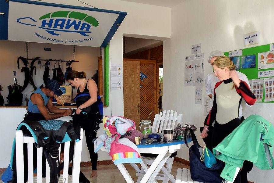 club de kite dans l'hotel Menaville à Safaga Mer Rouge